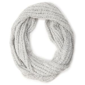 Gray Open Knit Infinity Scarf